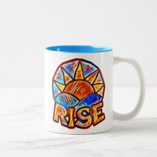 Colorful Sun Rise ~ Uplifting Message Two-Tone Coffee Mug