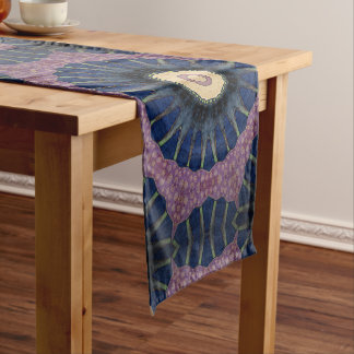 Colorful Sunburst Mandala-Style Table Runner. Short Table Runner