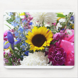 Colorful Sunflower bouquet Mouse Pads