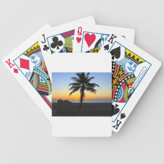 Colorful Sunrise Bicycle Playing Cards