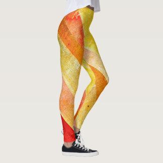 Colorful Sunrise Candy Stripe Leggings YOLO