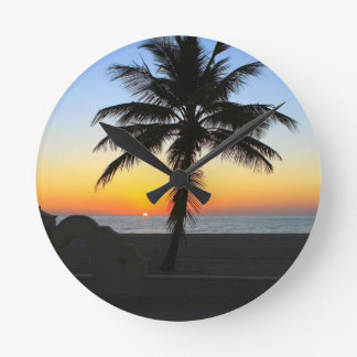 Colorful Sunrise Round Clock