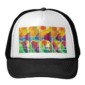 Colorful sunrise trucker hat
