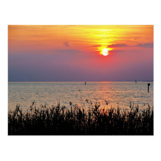 Colorful sunset at Lake Constance - Postcard
