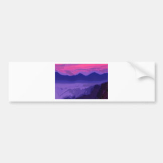 Colorful Sunset Bumper Sticker