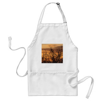 Colorful Sunset with tree silhouette Standard Apron