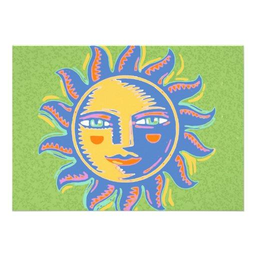 Colorful Sunshine Personalized Invites