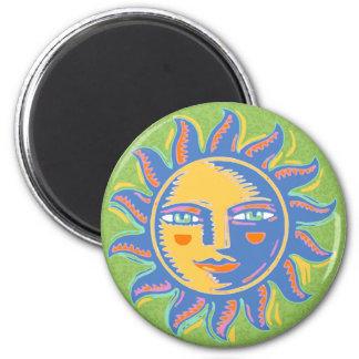 Colorful Sunshine Refrigerator Magnet