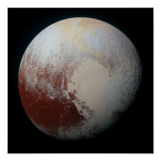 Colorful Surface Terrain of Pluto Poster