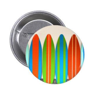 Colorful Surfboard Pattern Deisgn 2 Inch Round Button