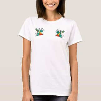 Colorful Swallows Flaying T-Shirt