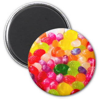 Colorful Sweet Candies Food Lollipop 2 Inch Round Magnet