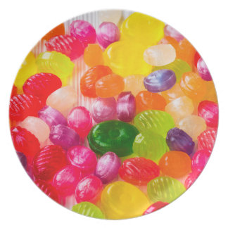 Colorful Sweet Candies Food Lollipop Plate