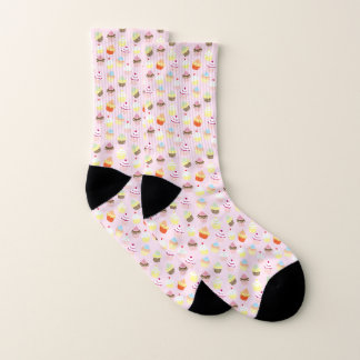 Colorful Sweet Cupcakes Pattern Socks 1