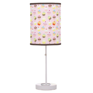Colorful Sweet Cupcakes Pattern Table Lamp
