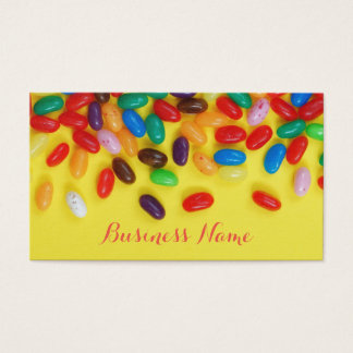 Colorful sweet jelly beans business card
