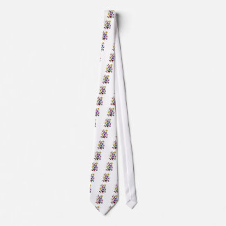 Colorful Sweet Peas Embroidered Tie