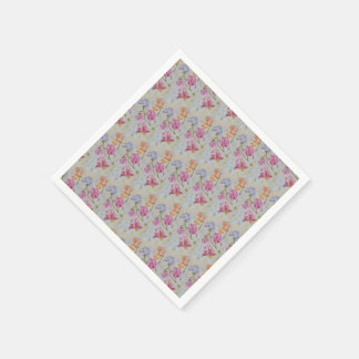 COLORFUL SWEET PEAS PAPER NAPKIN