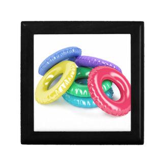 Colorful swim rings gift box