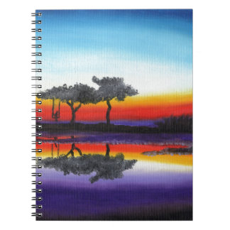 Colorful Swing Lake Oil Painting Notebook