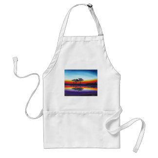 Colorful Swing Lake Oil Painting Standard Apron
