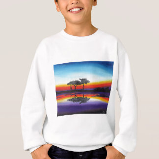 Colorful Swing Lake Oil Painting Sweatshirt