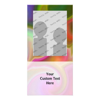 Colorful Swirl Abstract Personalized Photo Card