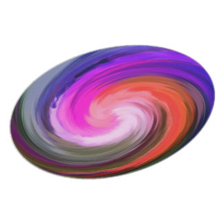 Colorful Swirl Abstract Plate