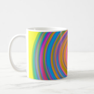 Colorful swirl design coffee mug
