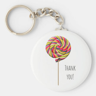 Colorful Swirl Lollipop Keychain