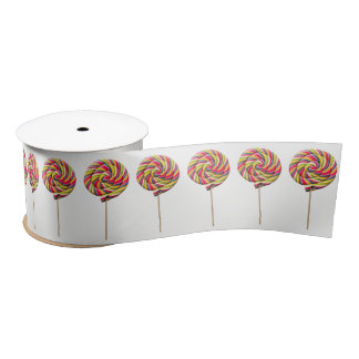 Colorful Swirl Lollipop Ribbon - 3'' Satin Ribbon