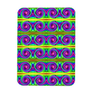colorful swirl pattern abstract rectangular photo magnet