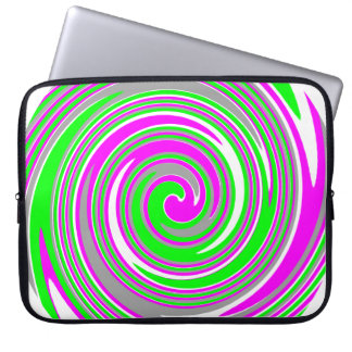 Colorful swirl pattern laptop sleeve