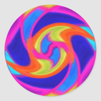 Colorful Swirl Stickers