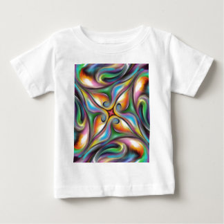 Colorful Swirling Softly Blended Paint Transitions Baby T-Shirt