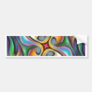 Colorful Swirling Softly Blended Paint Transitions Bumper Sticker