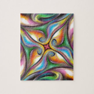 Colorful Swirling Softly Blended Paint Transitions Jigsaw Puzzle