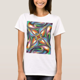 Colorful Swirling Softly Blended Paint Transitions T-Shirt