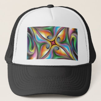 Colorful Swirling Softly Blended Paint Transitions Trucker Hat