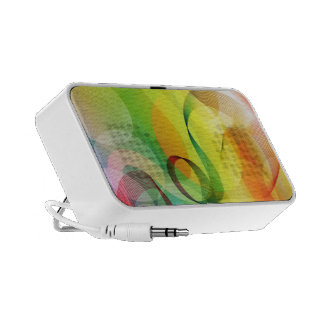 Colorful swirls and circles laptop speaker