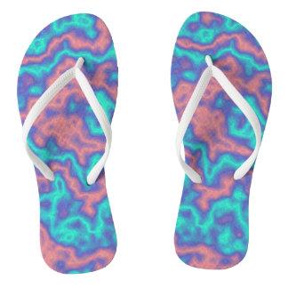 Colorful Swirls Flip Flops