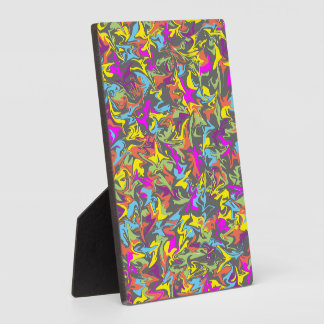 Colorful Swirls on Dark Gray Plaque