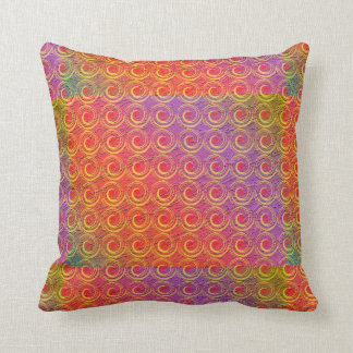 Colorful Swirls Pattern Throw Pillows