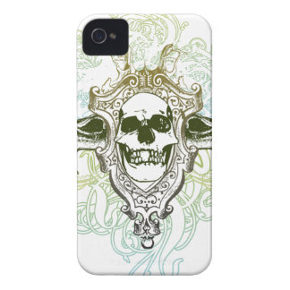Colorful swirls skull awesome blackberry bold case