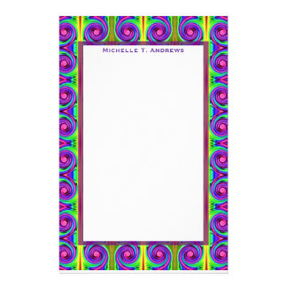 colorful swirls stationery