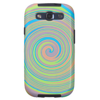 Colorful swirly pinwheel design galaxy SIII cases