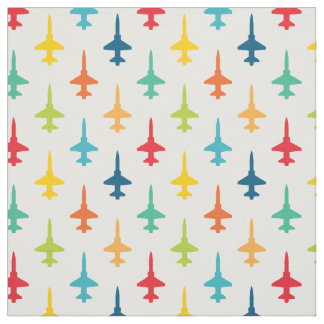 Colorful T-38 Talon Fighter Jet Pattern Primaries Fabric