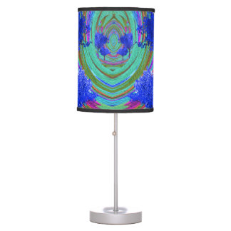 Colorful Table Lamp with Blue Tree Pattern
