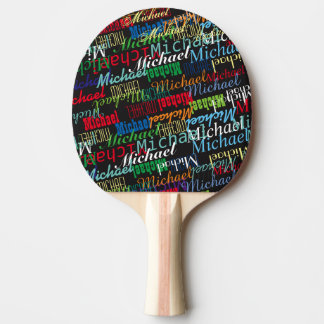 colorful table_tennis player's name custom ping pong paddle