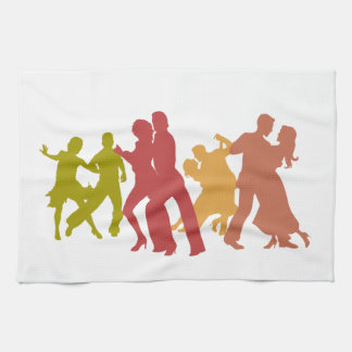 Colorful Tango Dancers Kitchen Towel